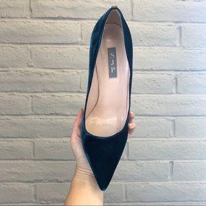 SJP by Sarah Jessica Parker Shoes - SJP by Sarah Jessica Parker Blue Suede Pumps US 8